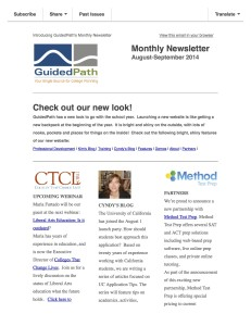 August Newsletter Now Here
